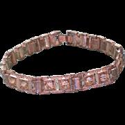 Pot Metal & Paste Link Bracelet