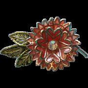 Vintage Coro Flower Brooch