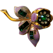 Quivering Camilla Trembler Flower Fur Clip by Coro