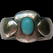 Silver Plate Blue Cabochon Bracelet