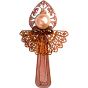 Nickel Silver Spoon Angel Pin