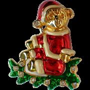 Teddy Bear Santa Christmas / Holiday Pin