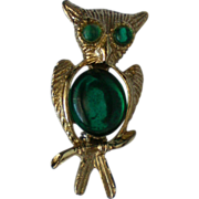 Vintage Jelly Belly Foil Backed Owl Pin