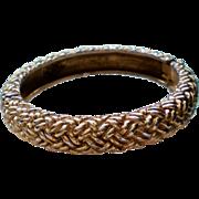 Vogue Bijoux Gold tone Hinge Bracelet