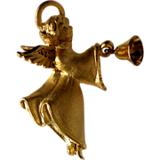 Signed Angel with Golden Bell Pin
