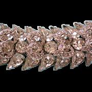 Signed Eisenberg Rhinestone Bracelet