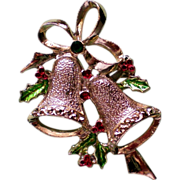 Signed MEESCO Holiday Bells Pin