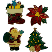 Holiday / Christmas Enamel Button Covers