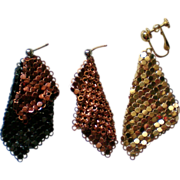 Whiting & Davis Mesh Missing Earrings
