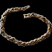 Avon X Bar Rhinestone Tennis Bracelet