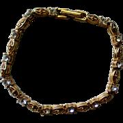 Avon NR Gold tone Tennis Bracelet