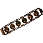 Copper Metal Chain and Cone Bracelet