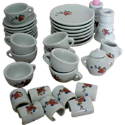 Vintage Strombecker Child's Dollhouse Tea Set