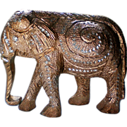 Brght Cut Metal Elephant Figurine