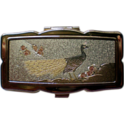 Chokin Art Peacock Pill Box