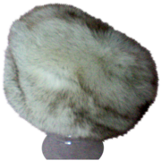 Variegated Fox Fur Hat made in Finland