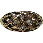 Avon Lattice Work Rhinestone Ring