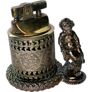Cherub Metal Cigarette Table Lighter