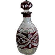 Deep Red Ruby Flashed Cruet Bottle