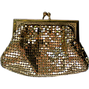 Whiting & Davis Gold Mesh Coin Purse