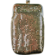 Whiting & Davis Gold Metal Mesh Evening Bag or Cigarette Case