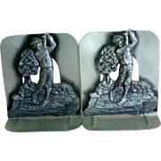Golf Motif Metal Book Ends