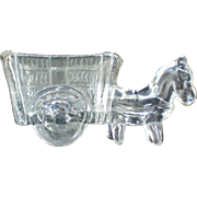 Donkey with Cart Toothpick Match Holder