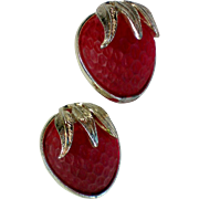 Sarah Coventry Strawberry Festival Clip Earrings