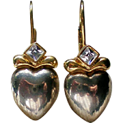 Valentine Heart French Wire Pierced Earrings