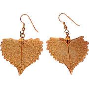 Gold Plated Aspen Leaves Earrings from Colorado