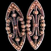 Edwardian Themed Pierced Earrings