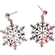 Silver Snowflake Christmas / Holiday Earrings