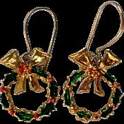 Petite Christmas / Holiday Wreath Earrings