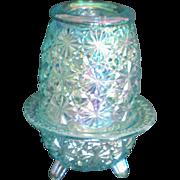 Iridescent Carnival Glass Fairy Lamp Light