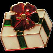 Metal Christmas / Holiday Present Pin