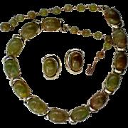Vintage Coro Necklace & Clip Earrings Set