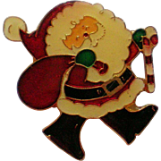 Santa Claus Christmas Pin marked Centenia 1980