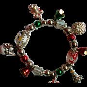 Holiday Christmas Stretch Charm Bracelet