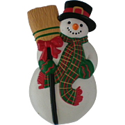 Cute Snowman Winter Holiday Pin