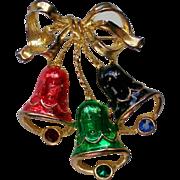 Three Joyous Bells Holiday / Christmas Pin