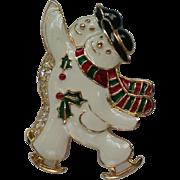 Skating Snowmen Pin by SFJ for the Holidays