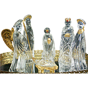 German Crystal Nativity Scene Set by Gorham