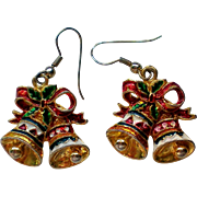 Pierced Dangle Holiday Bells Earrings for the Holidays