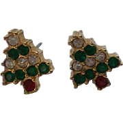 Tiny Christmas Tree Pierced Earrings for the Holidays