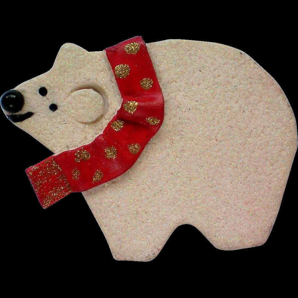 P Heck Designs Polar Bear Christmas Holiday Pin From