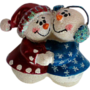 Grandma and Grandpa Snowmen Pin for the Holidays