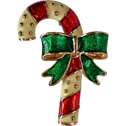 Christmas Candy Cane Pin for the Holidays