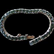 Weiss Blue Square Rhinestone Link Bracelet