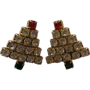 Miniature Christmas Tree Pierced Earrings for the Holidays