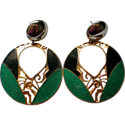 Edgar Berebi Large Dangle Pierced Earrings